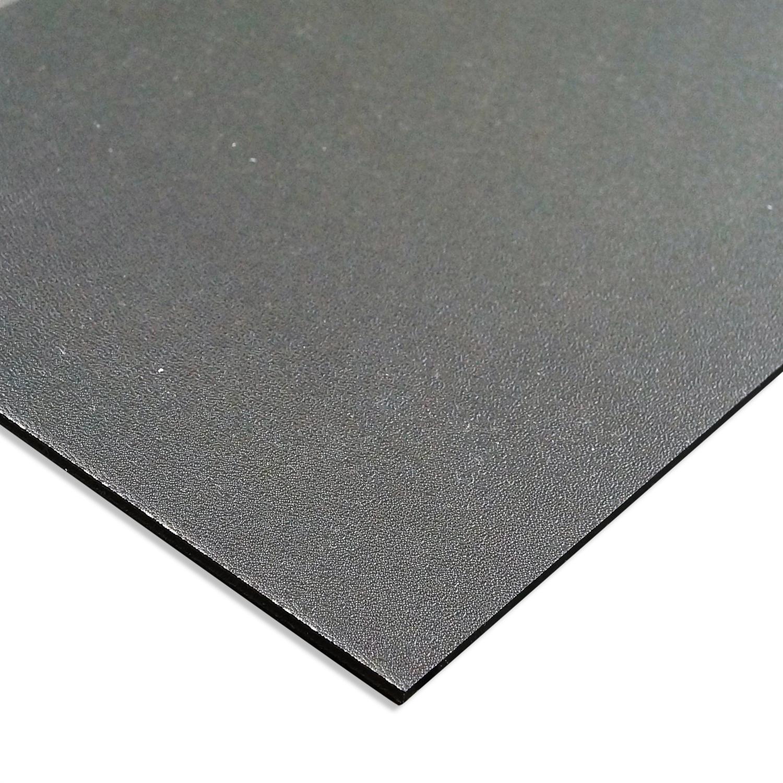 Svart Granulerad Formbar Abs Plastplatta Efter Matt